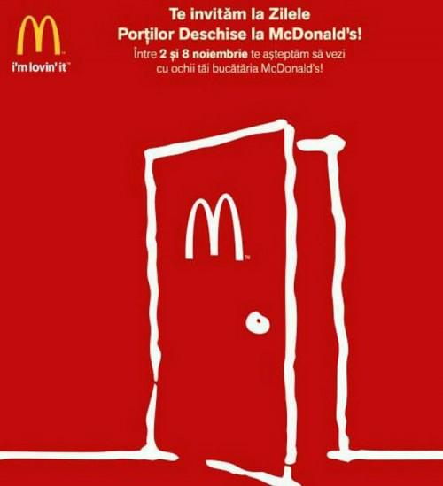 Portile deschise la McDonald's