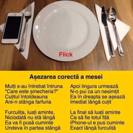 Duminicala romaneasca: Asezarea mesei